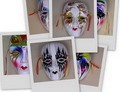 Assortment Of 6 Colorful Porcelain Wall Decor Beauty Masks MED