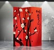 Double Sided Canvas Screen Room Divider - Plum Blossom