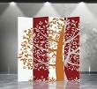 Double Sided Canvas Screen Room Divider - Fortune Tree