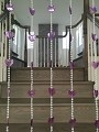 Beautiful Home Decor Acrylic Beaded Curtain Door Screen Divider - Hearts (Purple)