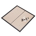 THY COLLECTIBLES Magnetic Go Game Set with Single Convex Plastic Stones and Go Board, Portable WEI QI 10