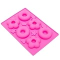 THY COLLECTIBLES Soft Silicone Ice Cube Tray Ice Maker Mold Donuts Mold Cake Mold Chocolate Mold (Pink)