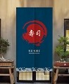 "Japanese Noren Doorway Curtain/Tapestry for Home or Restaurant - 33.5"" x 59"" ("