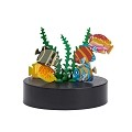 THY COLLECTIBLES Magnetic Sculpture Desk Toy For Intelligence Development Stress Relief Strong Magnet Base Solid Metal Pieces (Fish)