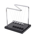 THY COLLECTIBLES Unique Z-Shape Wooden Base Newtons Cradle Balance Balls 5.5 inch Desk Top Decoration Kinetic Motion Toy For Home And Office