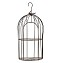 TJ Global 2-Plant Iron Birdcage Hanging Planter, Metal Wire Flower Pot Basket Wrought Iron Plant Stands for Plants, Flowers, Garden, Patio, Balcony Outdoor and Indoor Décor
