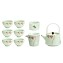 TJ Global Chinese/Japanese Mint Green Porcelain Tea Set, 100% Handmade Traditional Tea Ceremony Set with Teapots, 6 Teacups, Tea Strainger, and Gongdao Mug