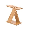 Organic Bamboo Knife Block Holder Knife Storage Organizer Cutlery Display Stand Scissor Sharpener Holder