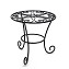 THY COLLECTIBLES Metal Potted Plant Stands Rust Proof Iron Art Flower Pot Holder Rack Steel Short Planter Supports Trivet Floor Garden Pots Containers Vase Fishbowl Stand (1 PC)