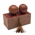 Natural Texture Rosewood Chinese Healthy Exercise Massage Baoding Balls