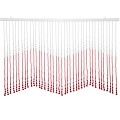 Beautiful Home Decor Acrylic Beaded Valance Curtain Door Screen Divider - Acrylic Red & Crystal Clear Teardrop