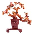 Stunning Feng Shui Ruby Gemstone Quartz Bonsai Money Tree