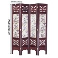 Vintage Oriental Style 4 Panels Screen Room Divider FUR1006
