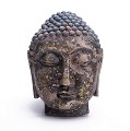 Antique Reproduction Wall Hanging Decor Plaque Asian Buddha Mask