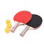 THY COLLECTIBLES Professional Ping Pong Paddle Set - Table Tennis Rackets with 3 Orange 3-Star 40mm Balls and BONUS Portable Storage Case. Perfect for any Experience Level (2 Players)