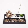 Asian Japanese Feng Shui Sand Zen Garden Buddha Incense & Candle HY197