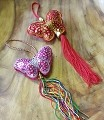 A Pair Of 2 Butterfly Handcraft Knitted Sequin Embroidered  Chinese Traditional Ornamental Knot Tassel For Home, Car, Party & Holiday Decor