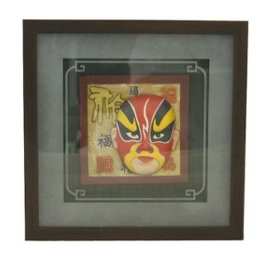 3D Wall Picture Frame w/ Chinese Opera Face