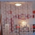 String Curtain Room Divider Partition LIGHT BROWN