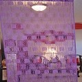 String Curtain Room Divider Partition Purple