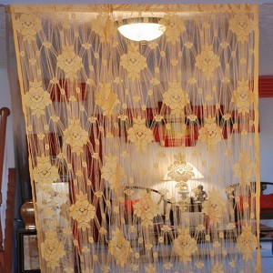 String Curtain Room Divider Partition ORANGE