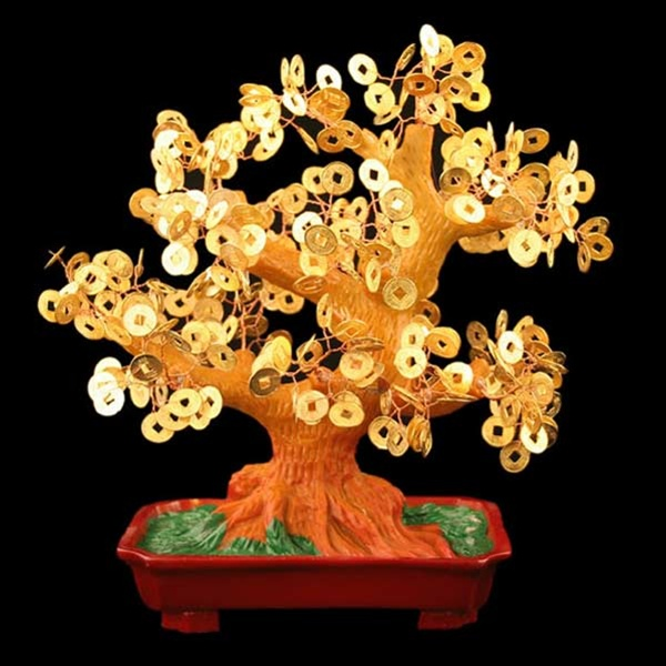 Stunning Artificial Chinese Coin Money Tree L Zoom