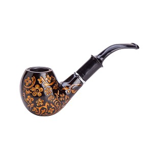 Durable Elegant Carve Patterns Wooden Smoking Tobacco Pipe TP5519
