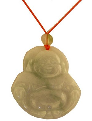 Chinese Jade Pendant Necklace (Buddha)