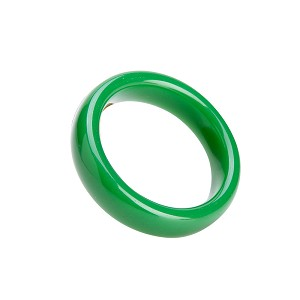 Stunning Beautiful Polished Green Jadeite Jade Bangle Fashion Bracelet