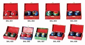 Assortment of One Dozen (12) #4 Chinese Healthy Exercise Massage Metal Balls