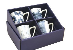 Exquisite 4 Pcs Porcelain Tea / Coffee Cups Set