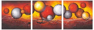 Modern Abstract Art Oil Painting STRETCHED READY TO HANG C1131ABC