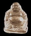 Crystal Glass Art Chinese buddha Figurine