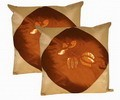 Oriental Silk Cushion Cover (Golden)