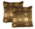 Oriental Silk Cushion Cover (BLACK)