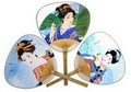 Assortment of one dozen (12) Feng Shui Hand Fan-CHINESE PALACE FAN