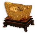 Golden Chinese Feng Shui Ingot