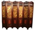 Vintage Oriental Style 6 Panels Screen Room Divider