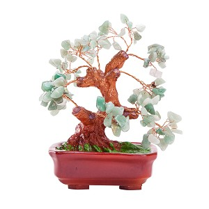 Stunning Feng Shui Turquoise Gemstone Quartz Bonsai Money Tree