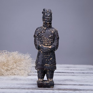 Antique Reproduction Qin Dynasty Terra cotta Warrior Collectible Statuette Meddium 8.5""