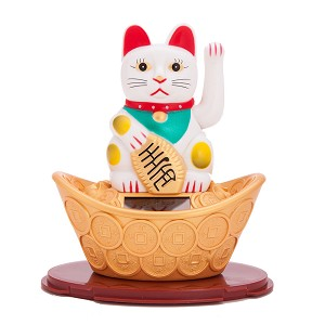 Solar Powered Bobblehead Toy Figure, Lucky Cat 068
