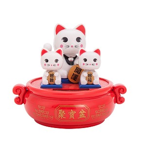 Solar Powered Bobblehead Toy Figure, Lucky Cat 071