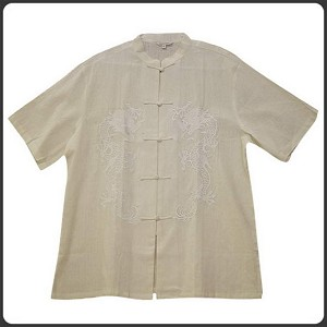 Traditional Chinese Embroidered Linen T-shirt