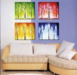 Modern Abstract Art Oil Painting STRETCHED READY TO HANG OPA70