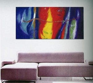 Modern Abstract Art Oil Painting STRETCHED READY TO HANG OPB809