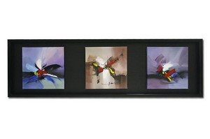 Modern Abstract Art Oil Painting With Wooden Frame