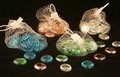 4 Packs Of Colorful Glass Marbles