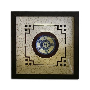 Oriental Ceramic Bowl Shadow Box