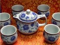 Exquisite porcelain double layers tea set 7 pcs w. gift box