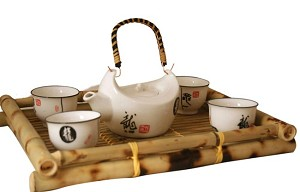 Contemporary Art Decor Porcelain tea set 5 pcs POR106